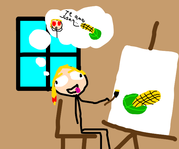 painter Lady has romantic fantasy about corn