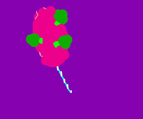 Brokkoli and cotton candy