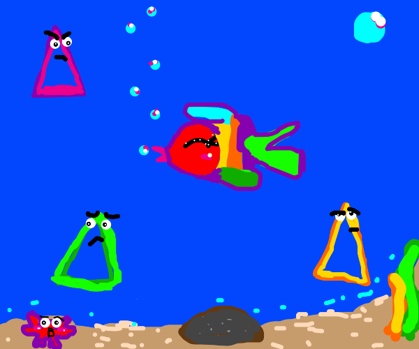 Triangles hate the rainbow fish