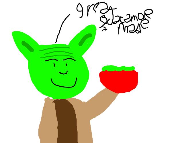 Yoda is a guacamole-making expert