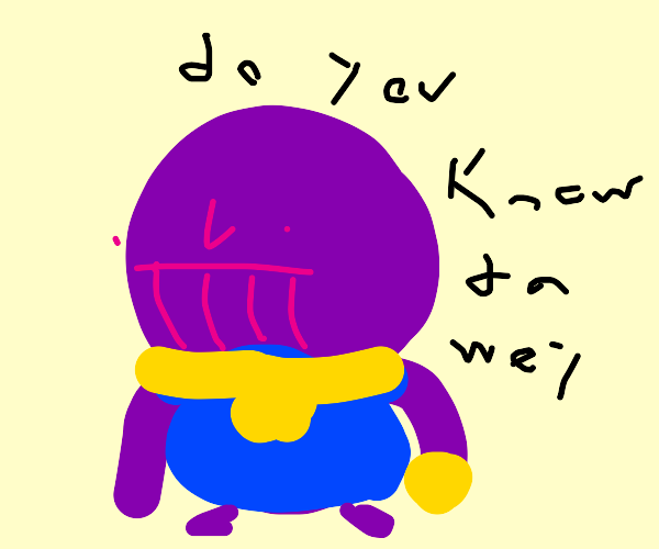 ugandan thanos knicles