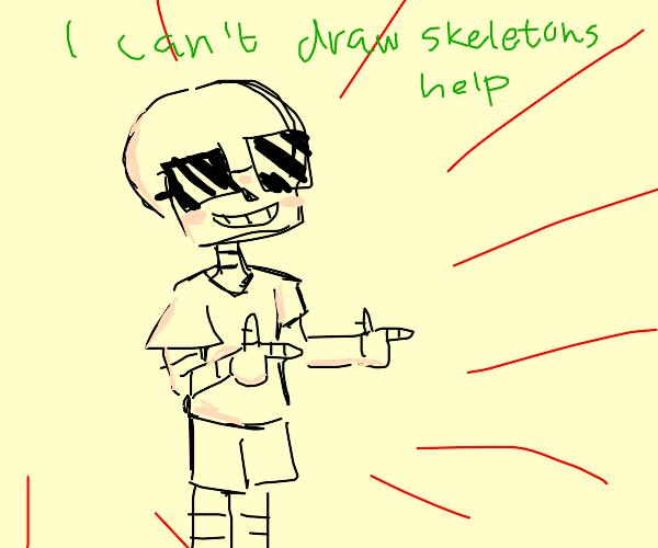 Skeleton finger guns