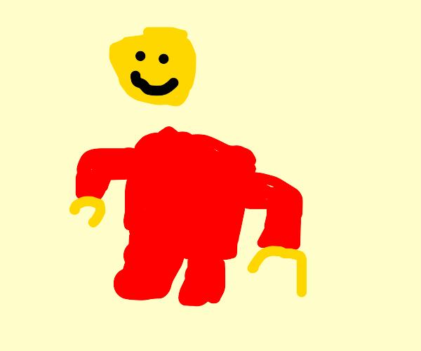 LEGO man decapitated