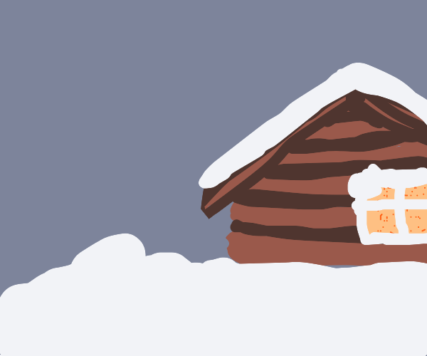cozy cottage in the snow