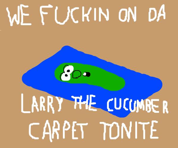 I wish I had Veggietales carpets.