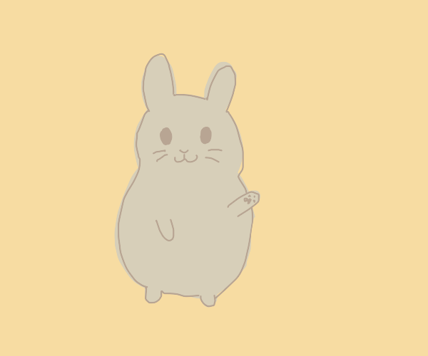 Bunny smiles at you
