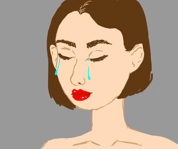 Crying Girl With Ears