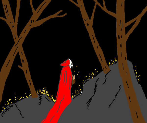little red riding hood in the evil forest