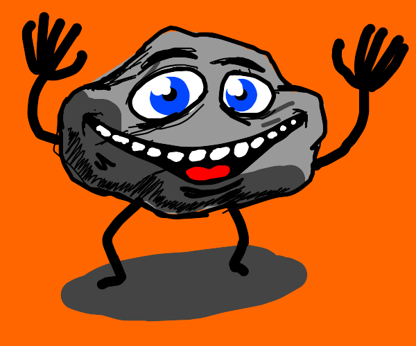 Happy rock with legs