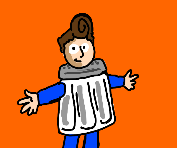 someone dressed as a salt shaker