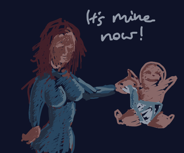 lady adopts a baby c: