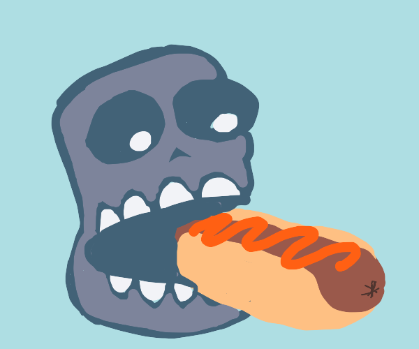 sans eating a hotdog