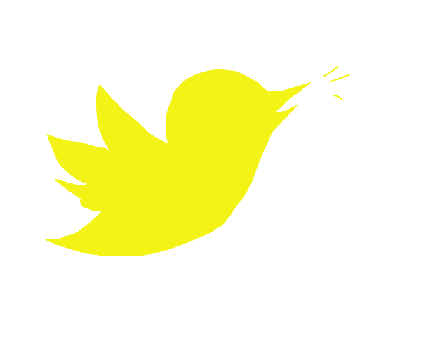 Twitter icon but Yellow