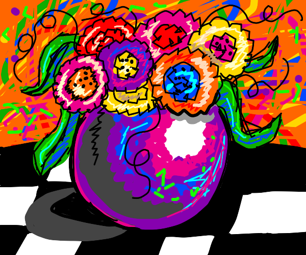 Psychedelic Vase'o'Flowers