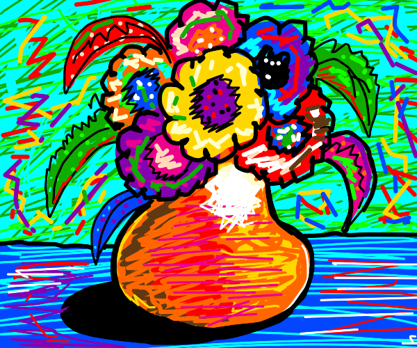 Very colourful still life