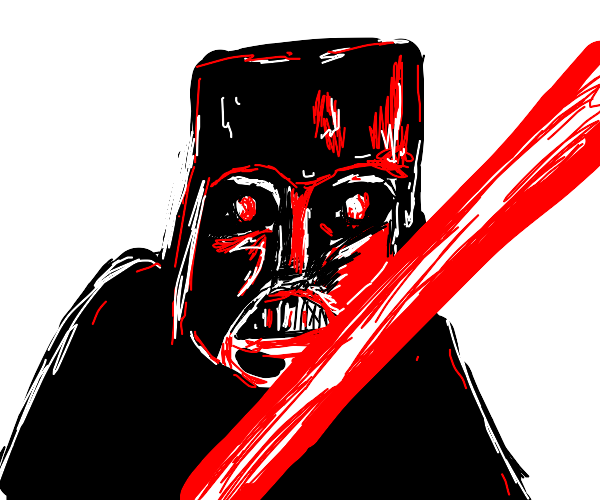 darth vader with his awesome red light saber