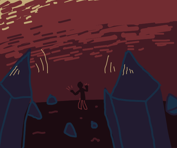 Someone summoning crystals