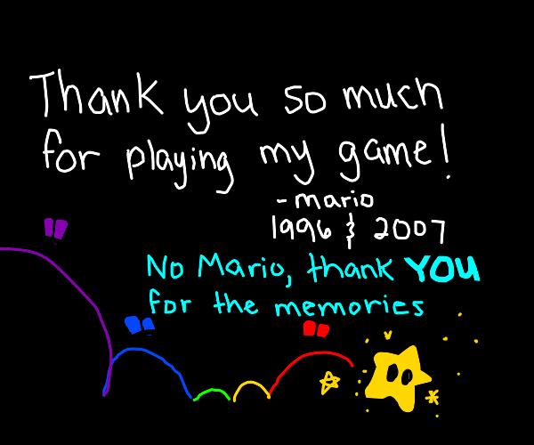 A Memorial To Mario Games Drawception