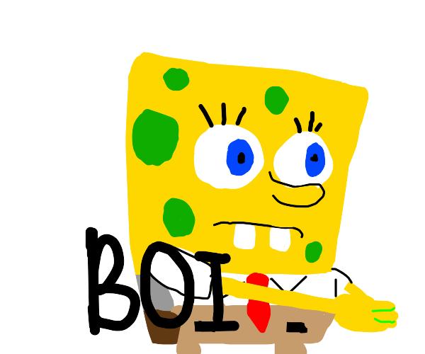 "Spongebob ""inhales. boi"" meme"
