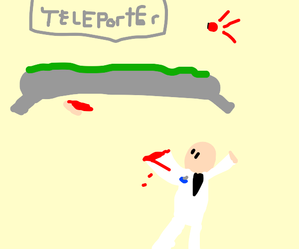scientist loses hand in teleport accident