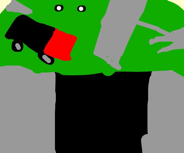 Slime accidentally eats a city