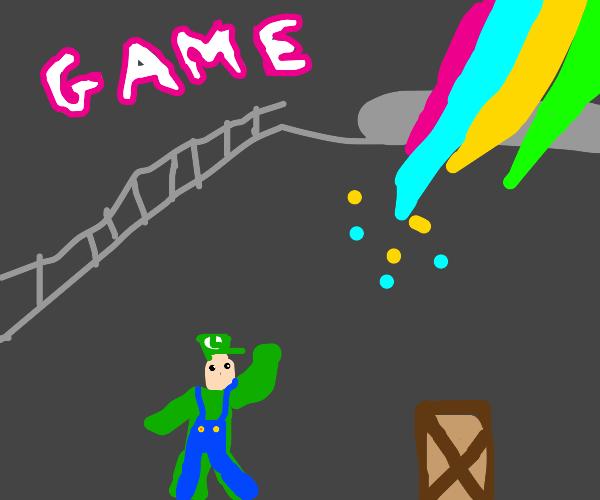Liquid Luigi fights Solid Mario in METAL GEAR