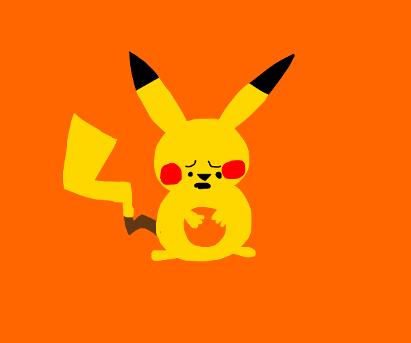pikachu with hole in chest