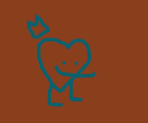 Quickorange face but its a blue heart