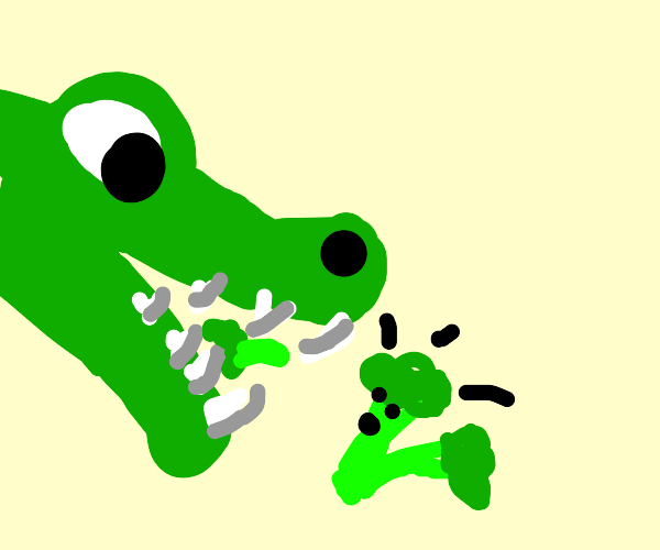 Crocc eating brocc
