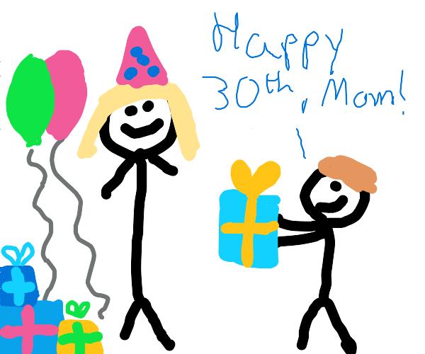 Moms 30th birthday!