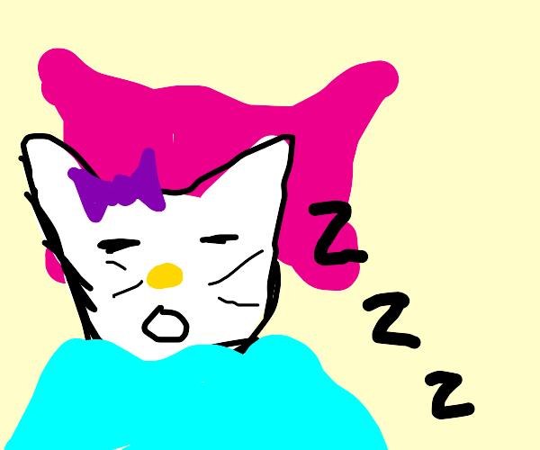 Hello Kitty peacefully asleep