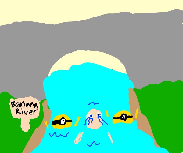 Children escaping the grasp of minion river