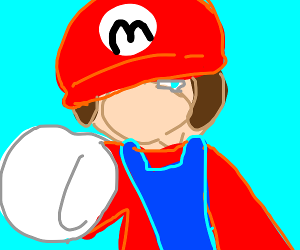 mario is-a gonna give-a you a punch-a