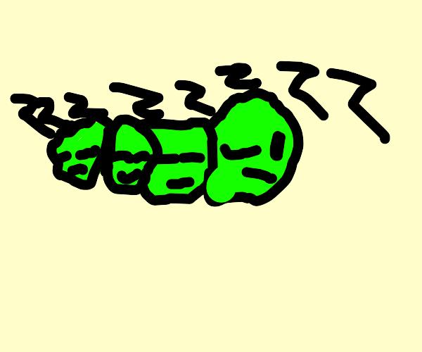 4 peas snuggled in bed