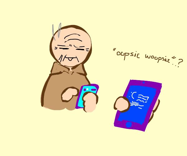 grandpa bluescreens ipod touch
