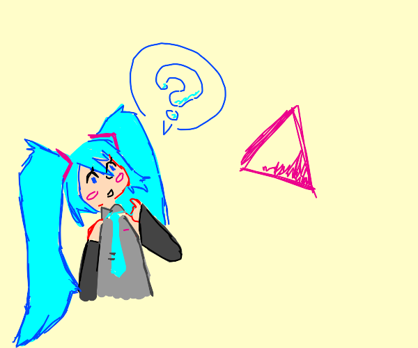 Miku doesn't understand pink triangles