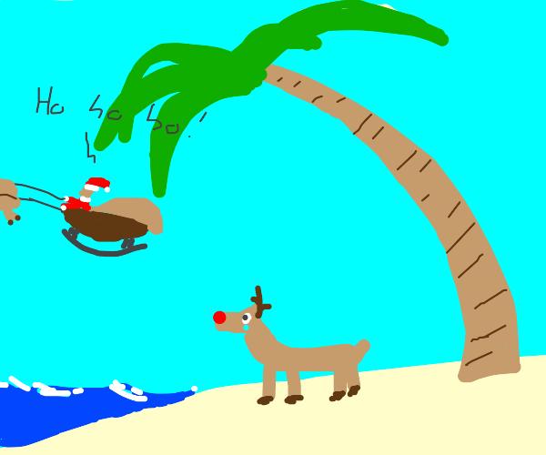 santa abandoned rudolph on an island