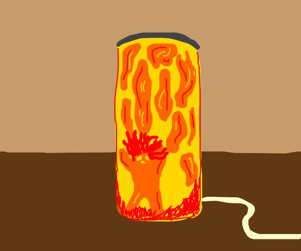 Lava girl in lava lamp