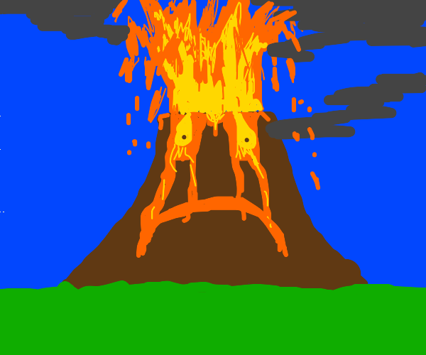 Sad volcano