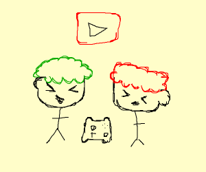 Two famous Youtube (gaming) stars