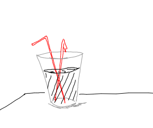 2 straws 1 cup