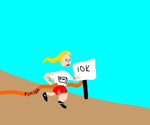 Little girl wins 10k