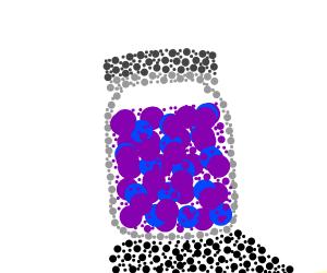 jar of grape jam