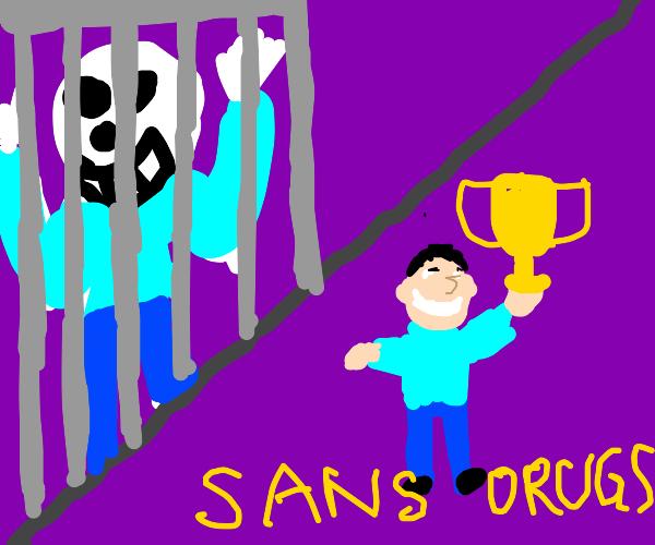 Sans' new anti-drug campaign.