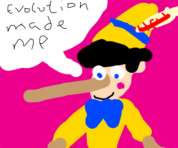 Pinocchio lies about who made him