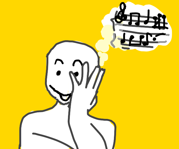 thinking about sheet music