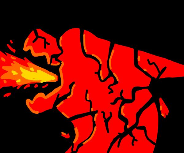Dragon split into shards