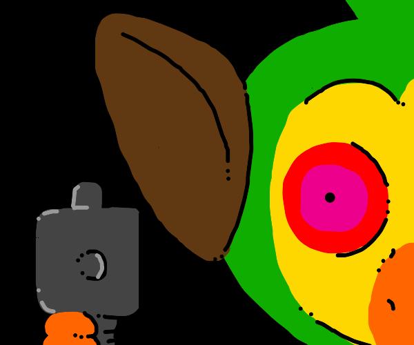 grookey holding you at gunpoint