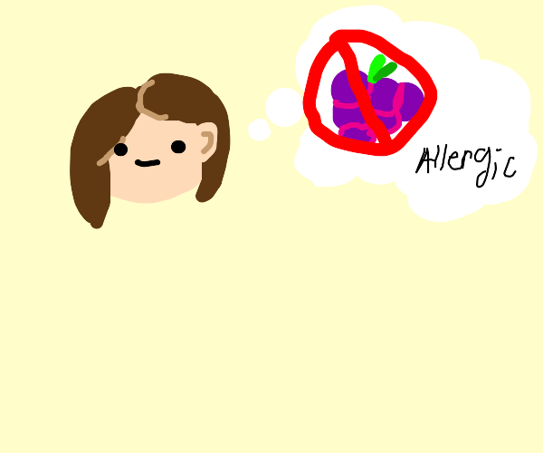grape allergy