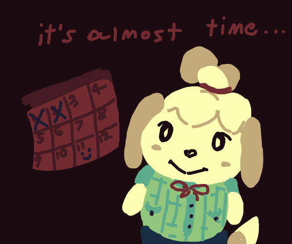 Isabelle excited for vacation a week early